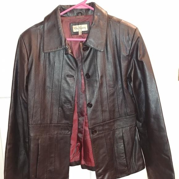Oleg Cassini Jackets & Blazers - Oleg Cassini 100% real leather jacket-
